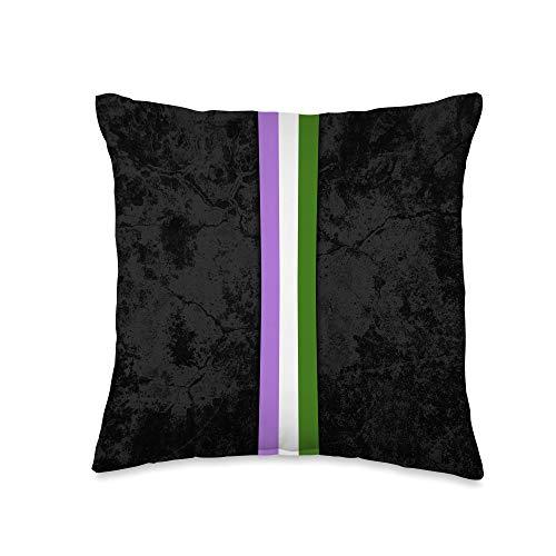Whee! Design Genderqueer Pride Flag Stripe Throw Pillow, 16x16, Multicolor
