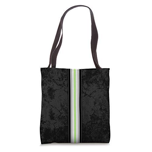 Agender Pride Flag Stripe Tote Bag
