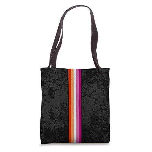 Lesbian Pride Flag Stripe Tote Bag