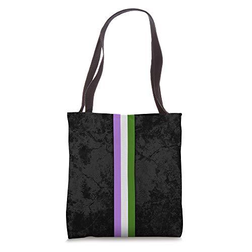 Genderqueer Pride Flag Stripe Tote Bag