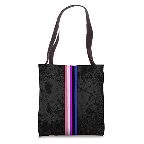 Genderfluid Pride Flag Stripe Tote Bag