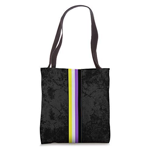 Nonbinary Pride Flag Stripe Tote Bag
