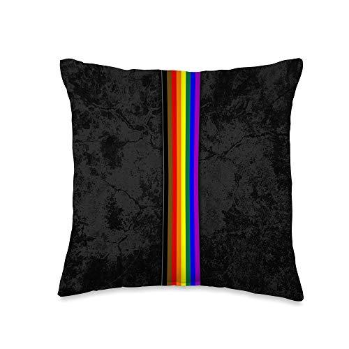 Whee! Design Philly Inclusive LGBTQ Pride Flag Stripe Throw Pillow, 16x16, Multicolor