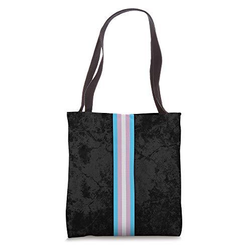 Transgender Pride Flag Stripe Tote Bag