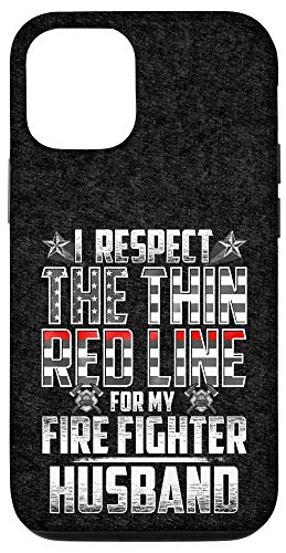 iPhone 12/12 Pro Husband Fire Fighter Thin Red Line Case