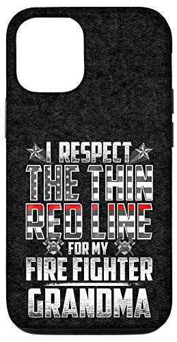 iPhone 12/12 Pro Grandma Fire Fighter Thin Red Line Case