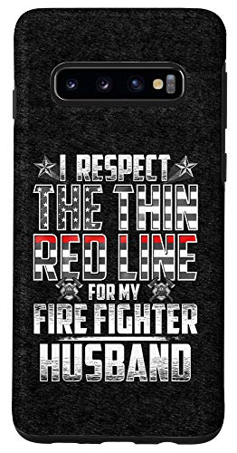 Galaxy S10 Husband Fire Fighter Thin Red Line Case