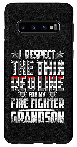 Galaxy S10 Grandson Fire Fighter Thin Red Line Case