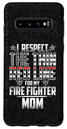 Galaxy S10 Mom Fire Fighter Thin Red Line Case