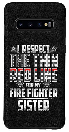 Galaxy S10 Sister Fire Fighter Thin Red Line Case