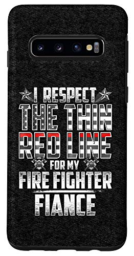Galaxy S10 Fiance Fire Fighter Thin Red Line Case