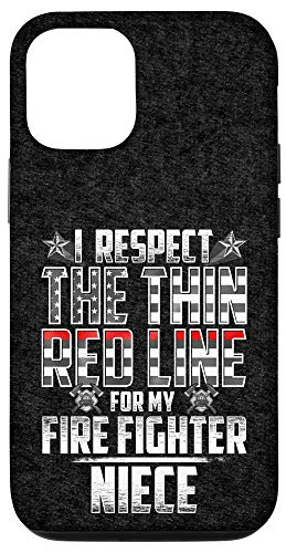 iPhone 12/12 Pro Niece Fire Fighter Thin Red Line Case