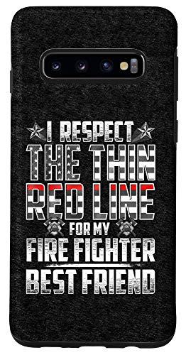 Galaxy S10 Best Friend Fire Fighter Thin Red Line Case