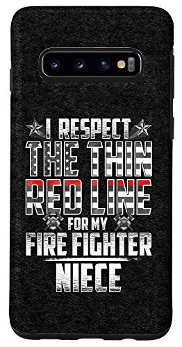 Galaxy S10 Niece Fire Fighter Thin Red Line Case
