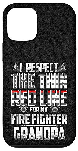 iPhone 12/12 Pro Grandpa Fire Fighter Thin Red Line Case