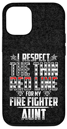 iPhone 12/12 Pro Aunt Fire Fighter Thin Red Line Case