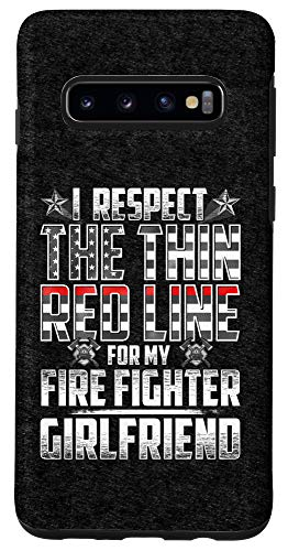 Galaxy S10 Girlfriend Fire Fighter Thin Red Line Case