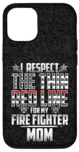 iPhone 12/12 Pro Mom Fire Fighter Thin Red Line Case