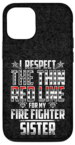 iPhone 12/12 Pro Sister Fire Fighter Thin Red Line Case