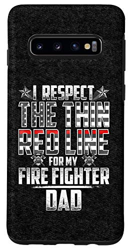Galaxy S10 Dad Fire Fighter Thin Red Line Case