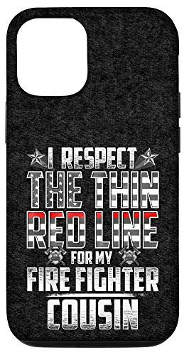 iPhone 12/12 Pro Cousin Fire Fighter Thin Red Line Case