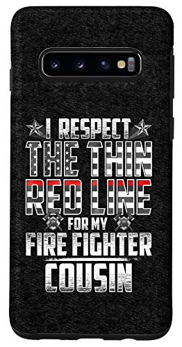 Galaxy S10 Cousin Fire Fighter Thin Red Line Case