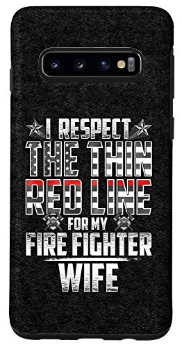 Galaxy S10 Wife Fire Fighter Thin Red Line Case