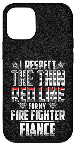 iPhone 12/12 Pro Fiance Fire Fighter Thin Red Line Case