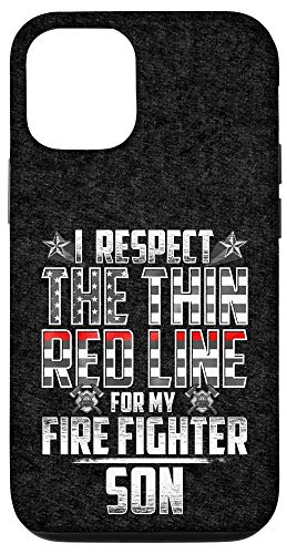 iPhone 12/12 Pro Son Fire Fighter Thin Red Line Case