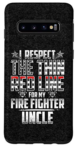 Galaxy S10 Uncle Fire Fighter Thin Red Line Case
