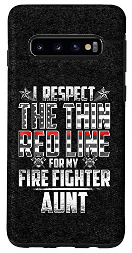 Galaxy S10 Aunt Fire Fighter Thin Red Line Case