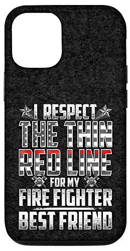 iPhone 12/12 Pro Best Friend Fire Fighter Thin Red Line Case