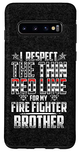 Galaxy S10 Brother Fire Fighter Thin Red Line Case