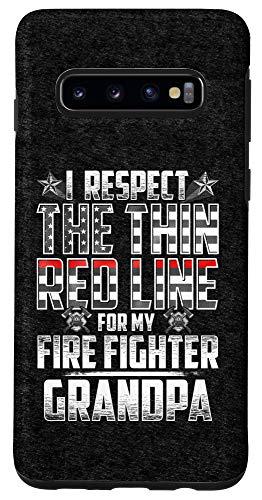Galaxy S10 Grandpa Fire Fighter Thin Red Line Case