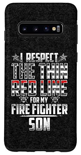 Galaxy S10 Son Fire Fighter Thin Red Line Case