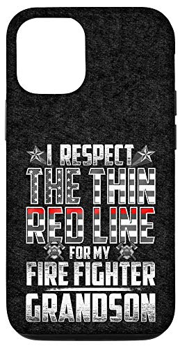 iPhone 12/12 Pro Grandson Fire Fighter Thin Red Line Case