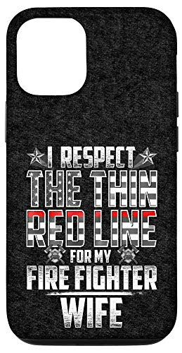 iPhone 12/12 Pro Wife Fire Fighter Thin Red Line Case