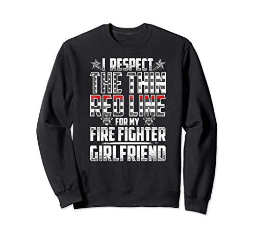 Girlfriend Fire Fighter Thin Red Line Sweatshirt