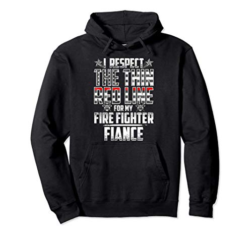 Fiance Fire Fighter Thin Red Line Pullover Hoodie