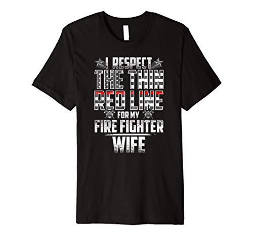 Wife Fire Fighter Thin Red Line Premium T-Shirt