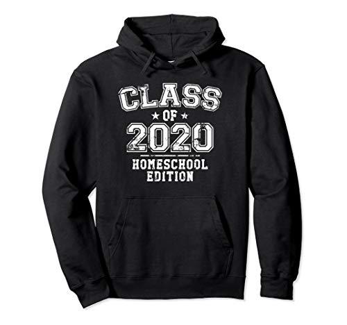 Distressed Class of 2020 - Homeschool Edition Pullover Hoodie