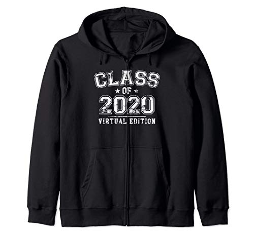 Distressed Class of 2020 - Virtual Edition Zip Hoodie