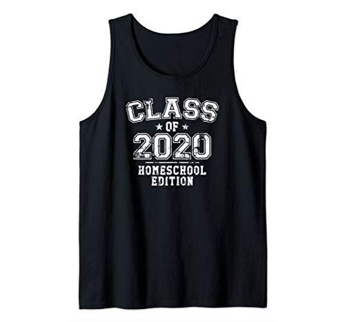 Distressed Class of 2020 - Homeschool Edition Tank Top
