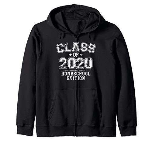 Distressed Class of 2020 - Homeschool Edition Zip Hoodie