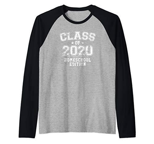 Distressed Class of 2020 - Homeschool Edition Raglan Baseball Tee