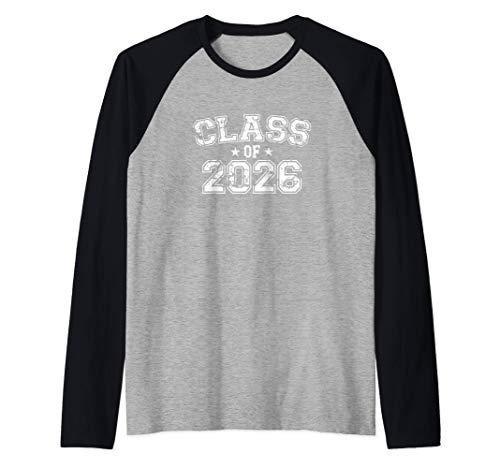 Distressed Class of 2026 Raglan Baseball Tee