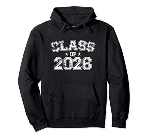 Distressed Class of 2026 Pullover Hoodie