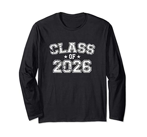 Distressed Class of 2026 Long Sleeve T-Shirt