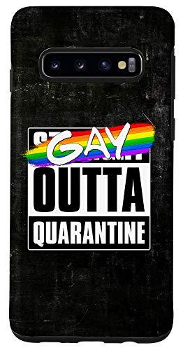 Galaxy S10 Gay Outta Quarantine - LGBTQ Pride Case