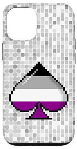 iPhone 12/12 Pro Asexual Pride Flag Pixel 8-Bit Ace Case